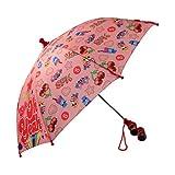 Shopkins Girls' Little Assorted Character Rainwear Umbrella, Light Pink, Age 3-7