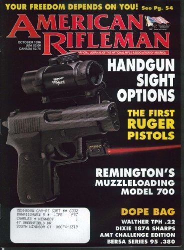 AMERICAN RIFLEMAN Ruger 22 Remington 700 Handgun Sights 10 1996