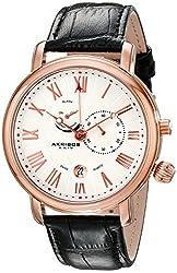 Akribos XXIV Men's AK593RG Swiss Multi-Function Leather Strap Watch