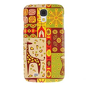 FJM Giraffe Pattern Protective Hard Back Cover Case for Samsung Galaxy S4 I9500
