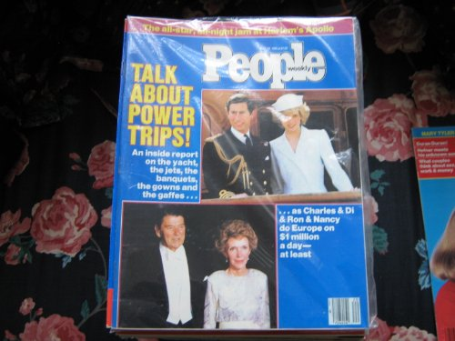 People Weekly (Charles & Di & Nancy & Ron Do Europe...Talk About Power Trips !, May 20 , 1985) (Power Trip Jet)