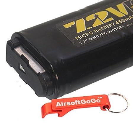 CYMA 7.2V 500mAh Ni-MH Micro Battery for CM030 CM121 CM122 CM123 Marui 18C M93R AEP AEG by AirsoftGoGo P8
