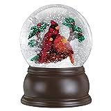 Old World Christmas Pair of Cardinals Snow Globe
