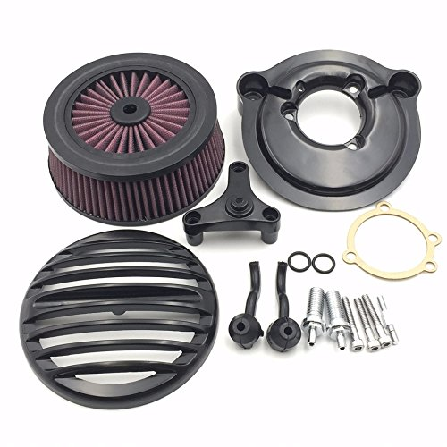 XKH Group XKH Group Motorcycle Black Grille Air Cleaner Intake Filter System Kit For Harley Davidson 2007 later XL Sportster 1200 Nightster 883 XL883 Low XL1200L Seventy Two Forty Eight by XKH-MOTO