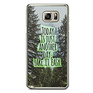 Samsung Note 5 Transparent Edge Phone Case Quote Phone Case Quote Of The Day Phonce Case Easy Note 5 Cover with Transparent Frame