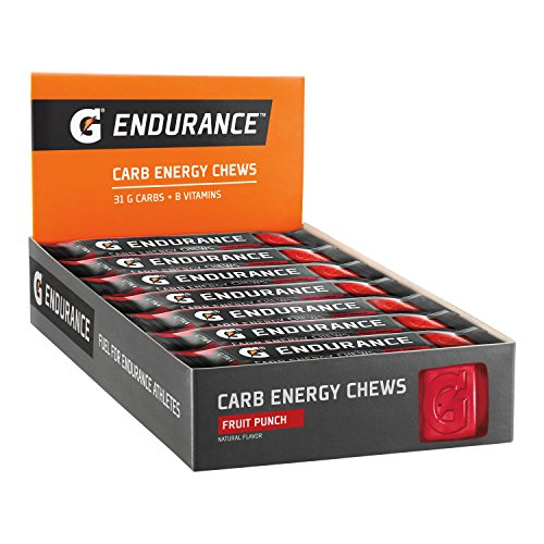 Gatorade Endurance Carb Energy Chews, Fruit Punch –  21 – 1.3 oz  (Pack of 21)