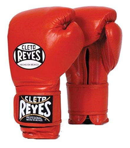 Cleto Reyes Hook & Loop Training Gloves - Regular Padding - Red - 16-Ounce