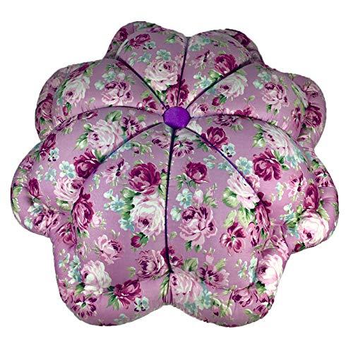 Ing&Ice Shop, 18 Inch Giant Pumpkin Shape Throw Pillows, Floral Print Fabric with Nature Kapok Inside, Sofa-Bed-Living-Reception-Home-Car Decorative, 100% Handmade Handicraft, Set of 1 (Purple) ()