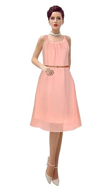 ac13d23afaab Fashion Flow A-line Georgette Midi Dresses for Women Western Wear Skater  Dress (D Isha 82
