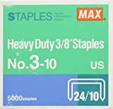 MAX 3/8-Inch Staples for HD-3DF Stapler (5,000 Staples per Box) (3-10)