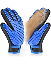 ACE2ACE Pet Grooming Gloves, Gentle Pet Hair Remover Grooming Mitt, Efficient Dogs Cats Deshedding Glove, Massage Tool with Five Finger Design for Long Hair Dog Cat- 1 Pair