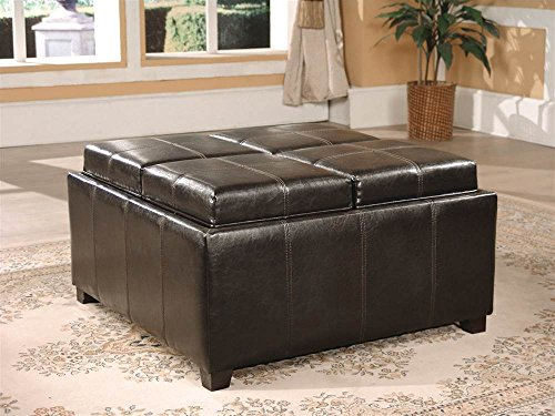 Asia Direct Home Square Ottoman with Four Top Convertible Cushions