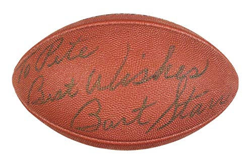 Bart Starr Packers HOF Signed Official Wilson NFL Football - COA