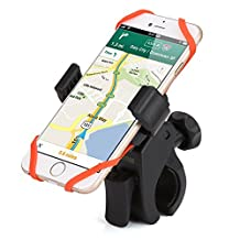 Smartphone Bike Mount, iKross Universal Rubber Strap Bike Bicycle Rack Handlebar Mount Holder Cradle with 360 Degrees Rotatable For iPhone 7, 7 Plus, 6S, 6s Plus, SE 5, Galaxy S7 S6 Edge, Note 5 4, LG G5 and More