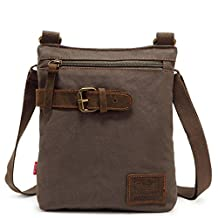Vintage Style Men's Small Canvas Crossbody Messenger Bag Shoulder Bag Daypack - 3 Colors