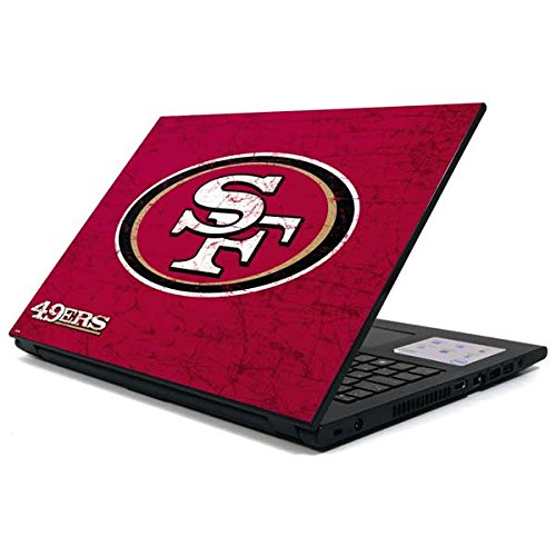 Skinit San Francisco 49ers Distressed Inspiron 15 3000 Series Skin - Officially Licensed NFL Laptop Decal - Ultra Thin, Lightweight Vinyl Decal Protection (Francisco 49ers San Laptop)