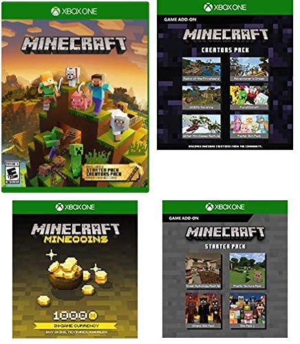 Minecraft Master Collection Xbox One 4 Download Card