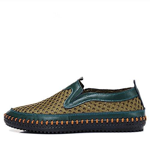 MIXSNOW Herren Wasser Schuhe Mesh Casual Wanderschuhe Slip-On Loafers Grün