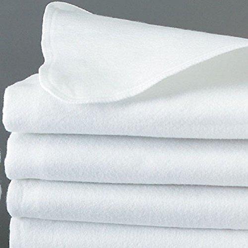 GHP 2Pcs Hotel 60''x80'' Queen Size White Flat Felt Pad Mattress Flat Cover
