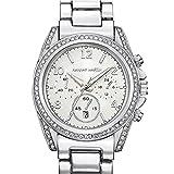 Abrray Women's Watches Fashion Wrist Watch Luxury Diamond Ladies Clock (Silver)