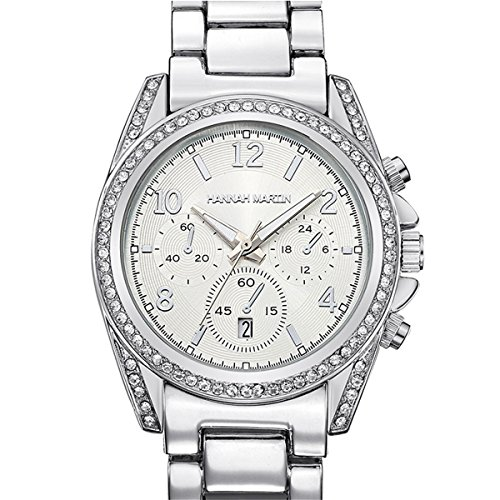Abrray Women's Watches Fashion Wrist Watch Luxury Diamond Ladies Clock (Silver) by Abrray