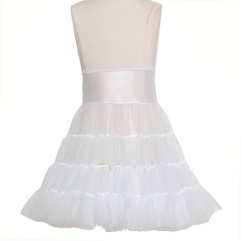 Toddler Girls White Tea Length Bouffant Nylon Petticoat Half Slip 3T ICM J.C. Collections