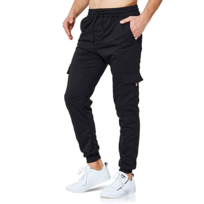 Mens Cargo Combat Jogging Trousers Bottoms Sports Joggers Casual Work Gym S-XXL