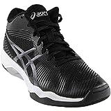 ASICS Men's Volley Elite FF MT Volleyball Shoe, Black/Dark Grey/White, 8 Medium US