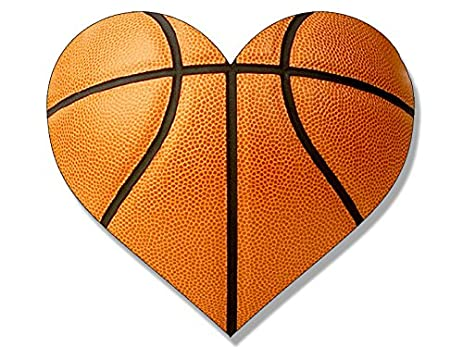 amazon com heart shaped basketball sticker i heart ayso play love rh amazon com heart shaped basketball necklace heart shaped basketball pictures