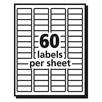 """Avery Clear Easy Peel Return Address Labels For Laser Printers 23"""" X 1-34"""", Pack Of 600 (15695) 3"""