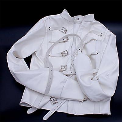 Camisa de fuerza de piel sintética amor secreto estricto Bondage Kinky Fancy Straight Jacket fetiche disfraz para mujer Sm cuerpo arnés de bondage Gear (M, blanco): Amazon.es: Deportes y aire libre