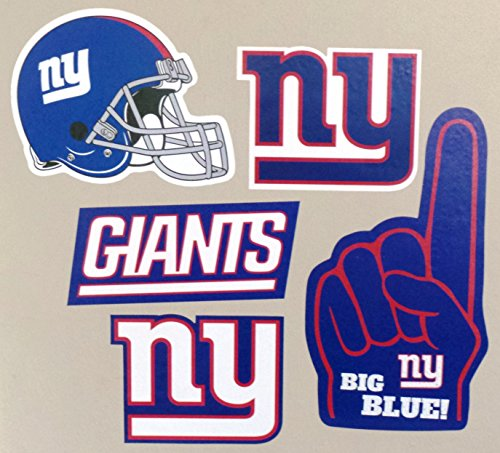 New York Giants FATHEAD Set of 5 Team Logo Helmet Official NFL Vinyl Wall Graphics 6