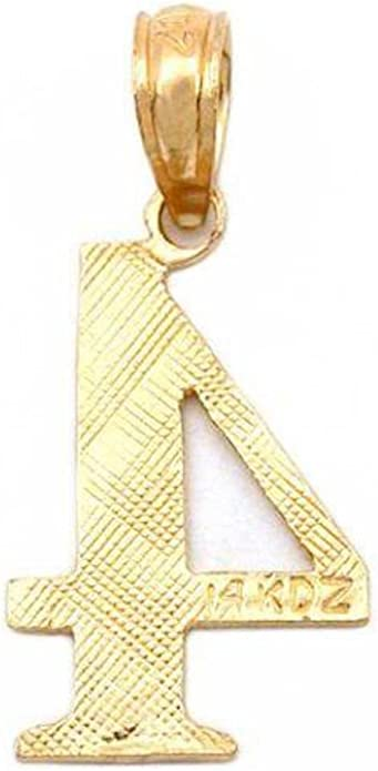 Jewels Obsession 14K Yellow Gold I Love Florida Pendant 17 mm