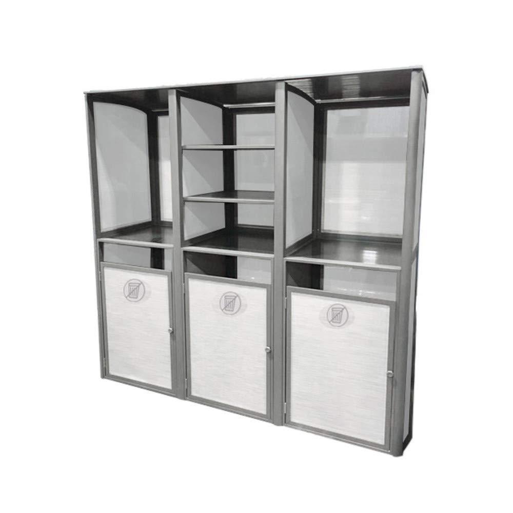 Grosfillex US174289 Sunset Towel Valet Laundry Housekeeping Cabinet, Triple Unit, 73''W x 25''D x 70''H, Platinum Gray
