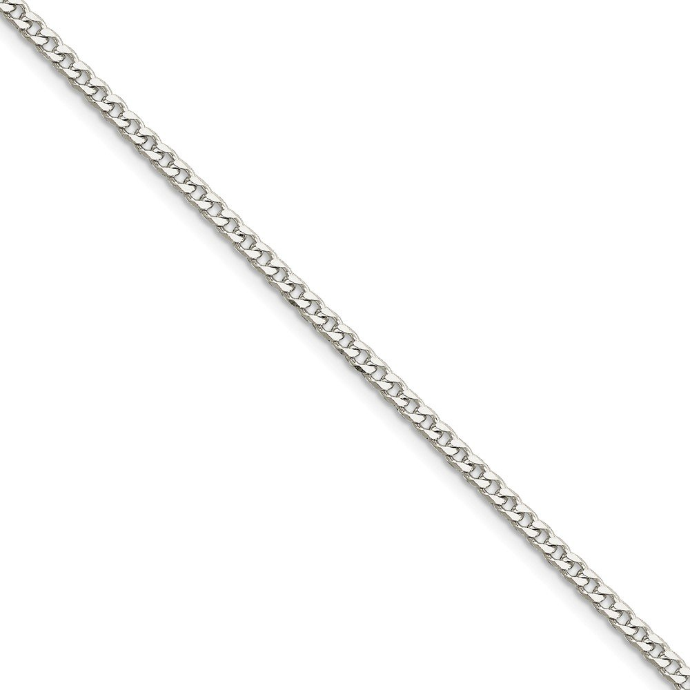 Jewelry Necklaces Chains Sterling Silver Polished 3.15mm Curb Chain
