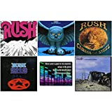 Rush: The Early Years Collection - 5 Studio Albums (Rush / Fly By Night / Caress of Steel / 2112 / A Farewell To Kings) + Bonus Art Card