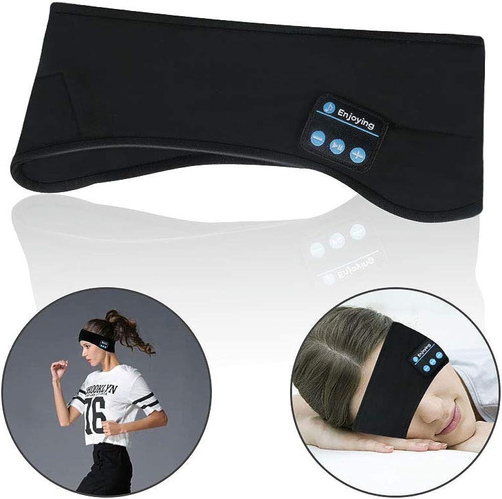 Allnice Sleep Eye Mask Bluetooth Headband Headphone Sport Headbands with Wireless Music Headsets for Running Gym Sleeping Yoga Travel Hiking Cycling Jogging Walking
