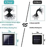Ultra-Long 2-Pack 46FT 160 LED Crystal Globe Solar
