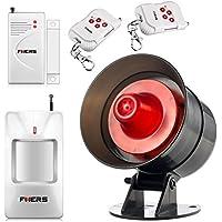 Fuers AS-300 Wireless Home Security Alarm System DIY Kit Loud Siren Black Door Contact Sensor