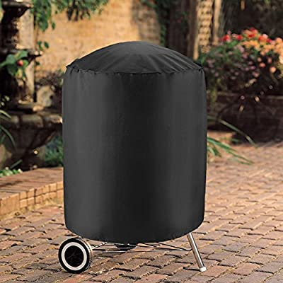 UNICOOK Heavy Duty Waterproof Dome Smoker Cover,Kettle Grill Cover, Barrel Cover 23''Dia, 28''Dia, 30''Dia