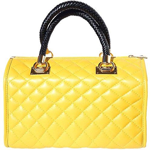 Bauletto pelle 7003 oro Giallo accessori con in rRzgw8Prq