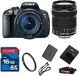 Canon T5I DSLR + 18-135mm IS STM Lens+ 16GB Memory + UV Filter + Deluxe Value - International Version