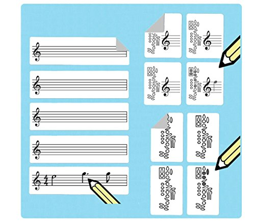 Clarinet Fingering Stickers Multipack (420 handy stickers) Great for beginners and teachers! by WhirlWindPress.ca