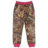 Carhartt Big Girls' Camo Fleece Pant, Dark Brown Print, 6X