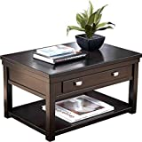 Ashley Furniture Signature Design - Hatsuko Coffee Table - Lift Top - Dark Brown