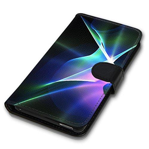 Wallet Book Style Flip Handy Tasche Case Schutz Hülle Schale Motiv Etui für Apple iPhone 4 / 4S - Design Flip MV233