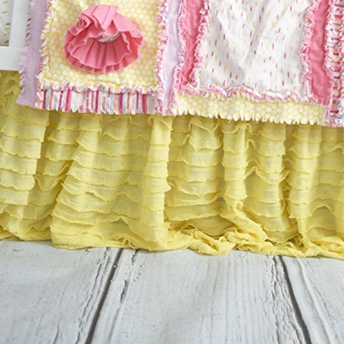 Yellow Crib Skirt Dust Ruffle for Baby Girl Nursery ...