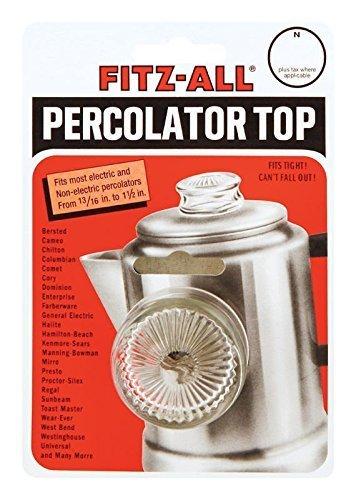 Glass Percolator Top (Fitz-all Universal Replacement Top Fits Most Percolators Harold Import New #135)