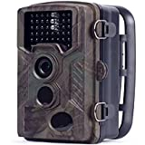 HOMESTEC Hunting Trail Game Camera - With 16G Card Infrared Scouting Cameras 12MP 1080P Detection Range 80ft Night Vision 65ft IP56 Waterproof …