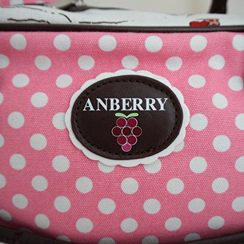 ANBERRY Sac bandoulière, Creme, Rosa (Rose) - ANB15-3